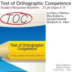 Test of Orthographic Competence Examiners Forms Ages 6-7 product image