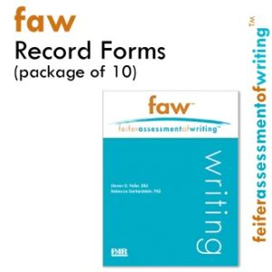 product image FAW - Feifer Assessment Of Writing Ten Pack Record Forms