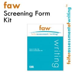 FAW Product Image - Feifer Assessment Of Writing Screening Form Kit